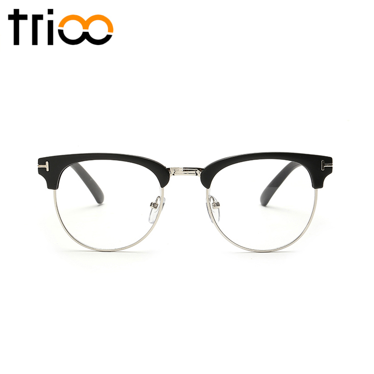 Glasses Frame Suppliers : Aliexpress.com : Buy TRIOO Semi Rimless Black Gafas de sol ...