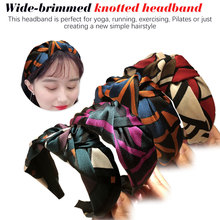 Spring and summer new listing headband wide-brimmed head hair accessories Grid band
