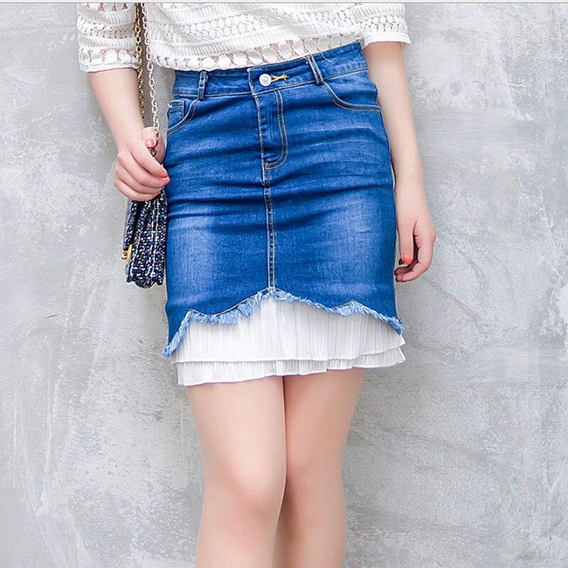 Юбки из шифона и джинсах