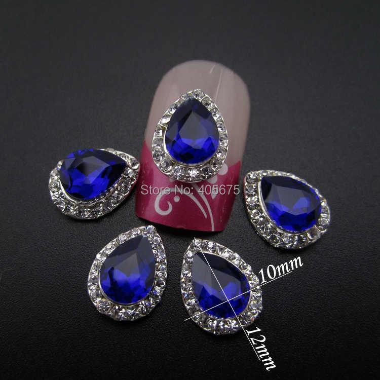 MNS655 Turchese diamante di scintillio di strass nails decorazione di arte 3d del chiodo gioielli FAI DA TE charms per decorare le casse del telefono 10 pcs