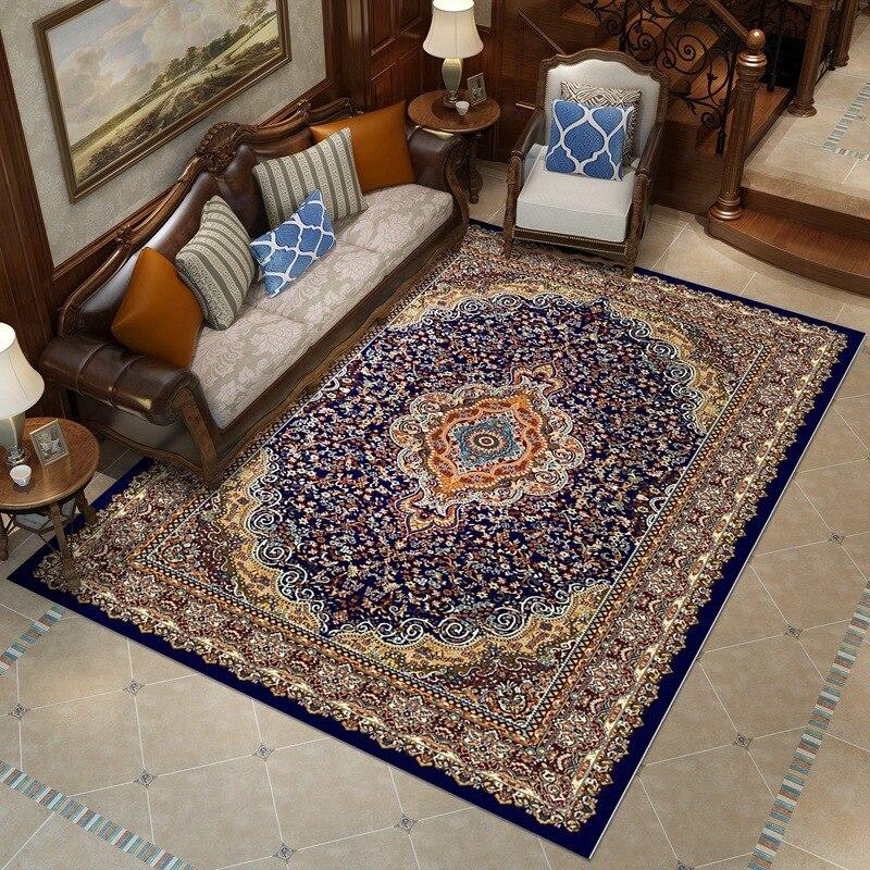 Tapis de Style persan tapis Jacquard, grand tapis de vestiaire de salon, Rectangle, tapis de décoration pastorale
