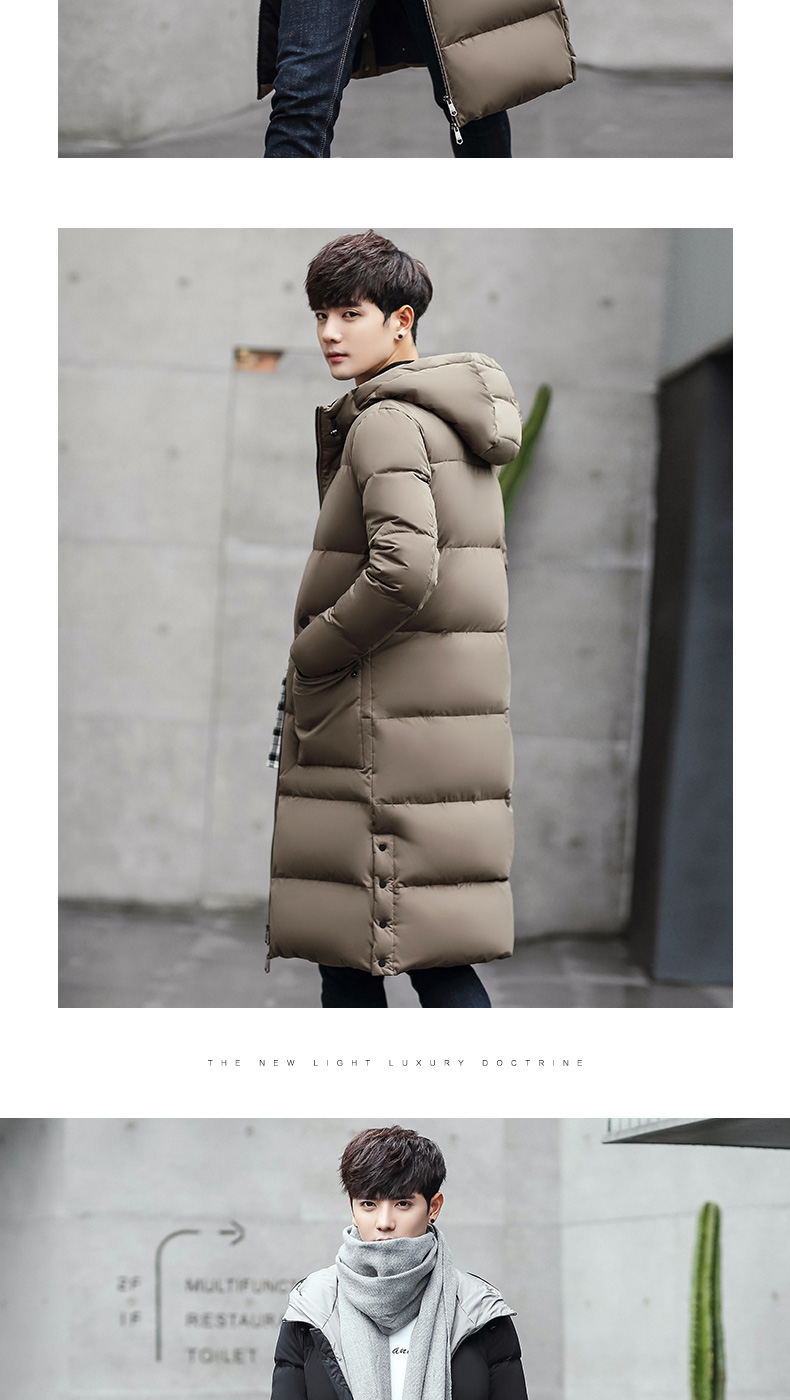 1fd6f628c7eb 2016 Men Down Jacket In The Long Winter Coat Slim Youth Thickened ...