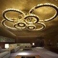 Cristal moderna levaram luzes de teto para o quarto sala de estar Círculo Anéis Cristais avize Interior LEVOU Moderna Lâmpada Do Teto Luminárias