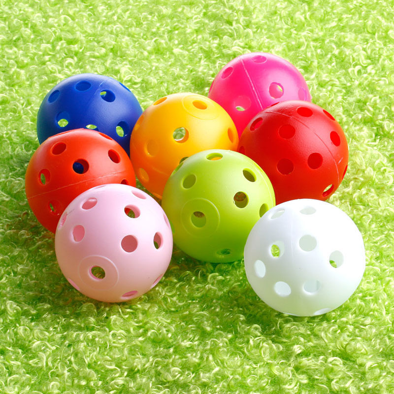 Golf Supplies 50Pcs Golf Practice Plastic Whiffle Airflow Hollow Sports Training Balls 40mm