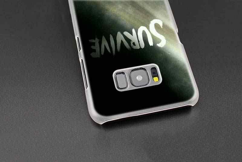 Filme capa Samsung Galaxy S8 S9 Plus S4 S5 Mini S6 S7 Coque Plástico Rígido Tampa Da Caixa de Borda Transparente escudo do telefone de The Walking Dead