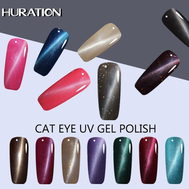 Huration 3D Cat's Eye 8ml Magnet Nail Gel Polish Set 24 Color DIY Soak Off UV LED Lamp Gel Varnish Magnetic Gel Lacquer Nail Art