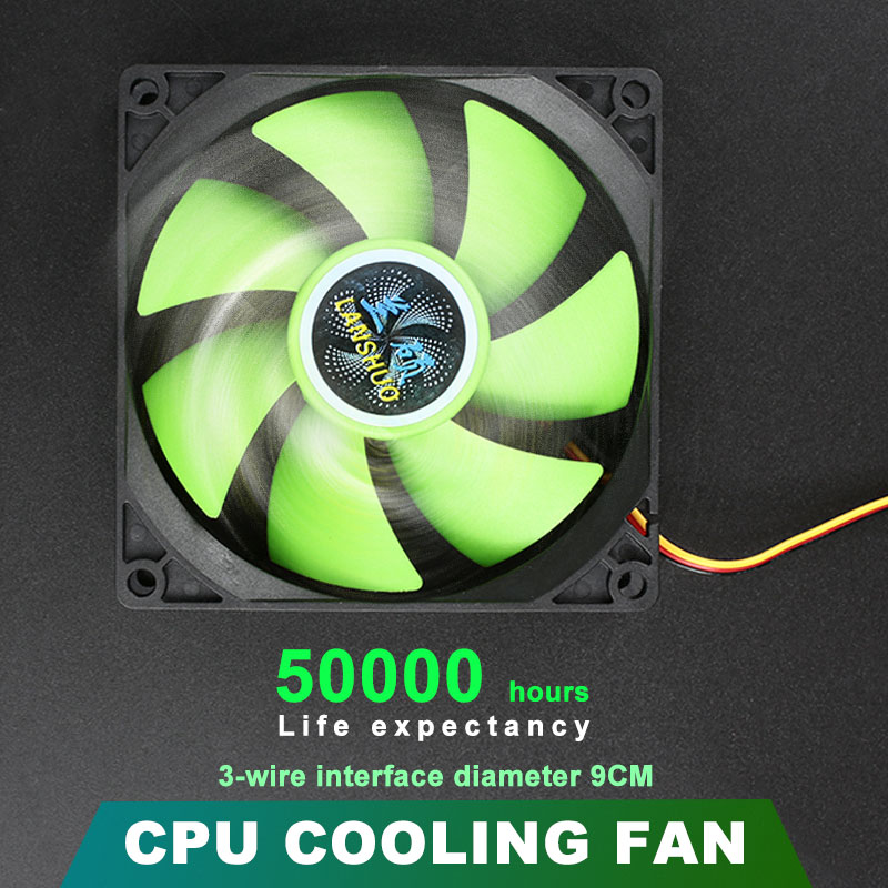 LANSHUO High Quality Computer Case Mute Cooling Fan 80*80*25mm DC 12V 45 CFM Computer Coolers