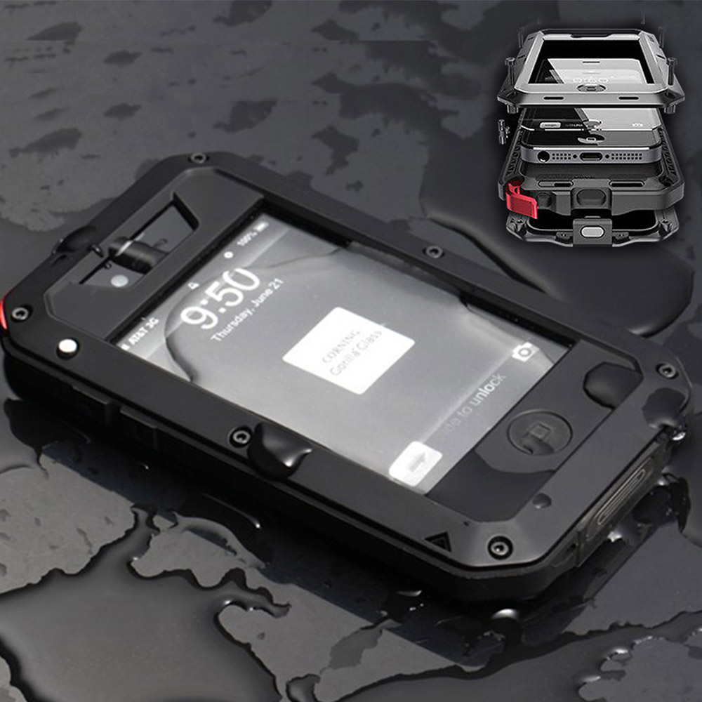 Premium Protection For Apple iPhone 4 4S Extreme Carrying Case Shockproof Waterproof Military Heavy Hard Phone Case Back Cover