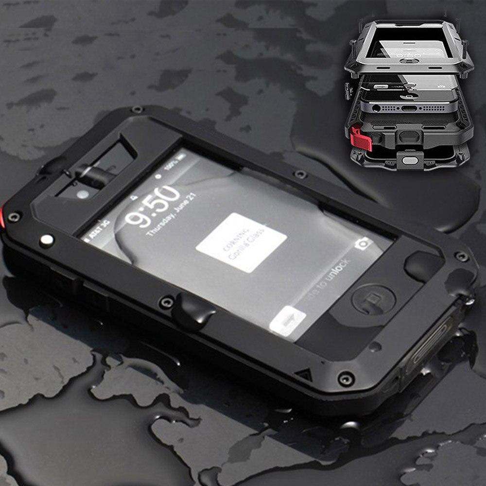imágenes para Protección Superior Para el iphone 4 4S LIHNEL Extreme Estuche A Prueba de Choques Impermeable Militar Pesado Duro Caja Del Teléfono de La Contraportada