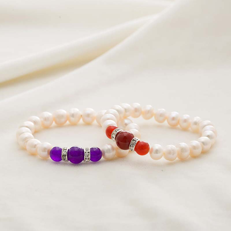 2018 High Quality Freshwater Pearl Bracelets Natural Pearl Bracelet for Women Beads Bracelet 5 Color