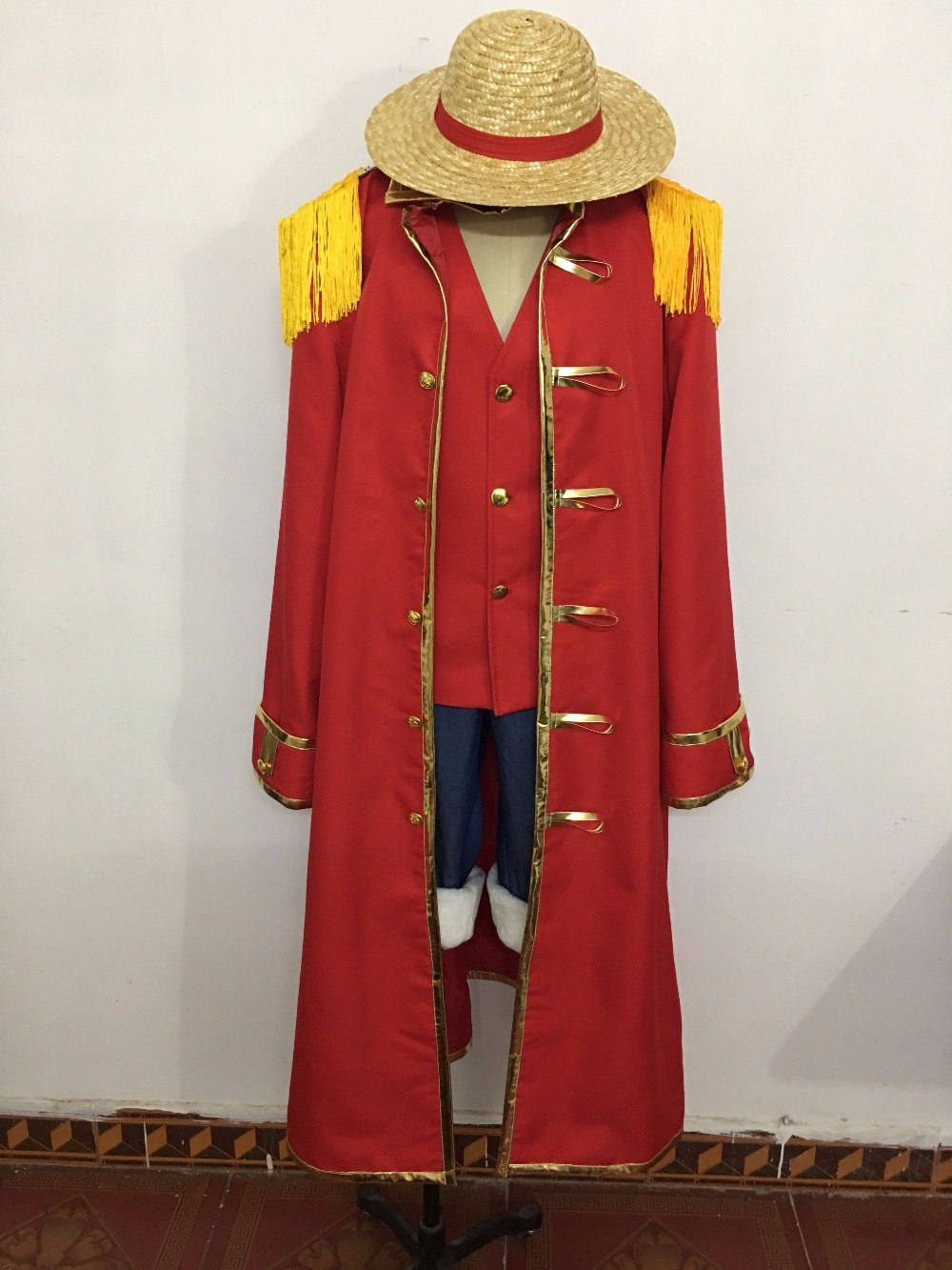 Novelty & Special Use Costumes & Accessories One Piece Film Z Monkey D Luffy Cosplay Costume All Sizes Custom Made