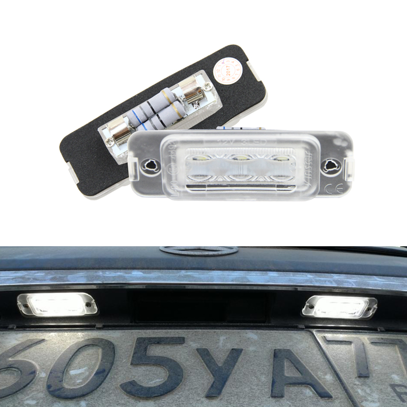 2x Error Free Led Number License Plate Light Car Tail Lamps For Benz R Class W251 ML CLass W164 GL Class X164 Replace 2518200066-in Signal Lamp from Automobiles & Motorcycles