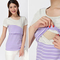 Cotton Nursing Maternity Top Clothes For Pregnant Women Breastfeeding Tee Feeding T-Shirt Short Sleeve Pregnancy Clothing S-XL