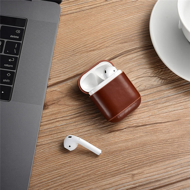 Genuine Leather Retro Series AirPod Case Cover 3