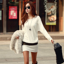 New Fashion Sexy Women Ladies Winter Bottom Slim Knit Knitwear Sweater Dress Hot robe pull femme hiver