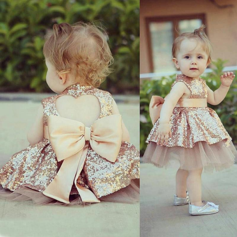 1 2 3 4 Year Baby Children Princess Dress 2018 New Summer Girls Party Wedding Clothes Sleeveless Bow Kids Dresses for Girls 1