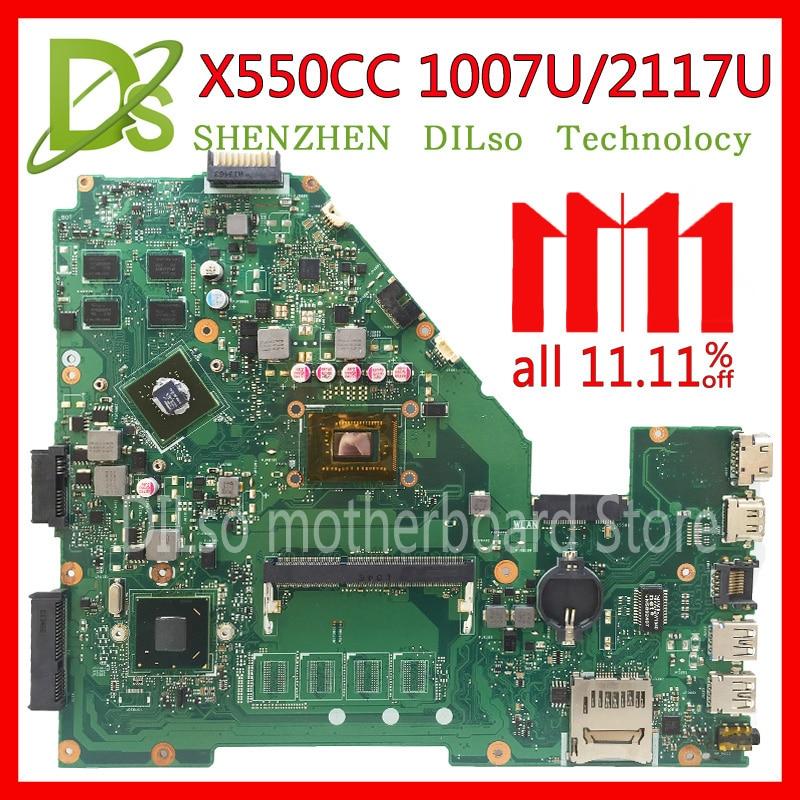 KEFU X550CC motherboard for ASUS X550CC R510C R510CC X550CL laptop Motherboard 1007U/2117u original motherboard все цены