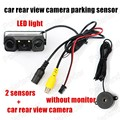 Auto Parking Assistance System 2 In 1 Car Rear view Monitor With Rearview Camera and 2 Sensors For Reverse RearViews