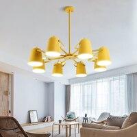 Modern LED Macaron chandelier loft lighting fixtures Nordic home hanging lights bedroom illumination living room suspended lamp