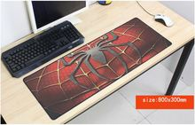 hot spiderman mouse pad large pad to mouse notbook computer mousepad Fashion gaming padmouse gamer to laptop 80x30cm mouse mats