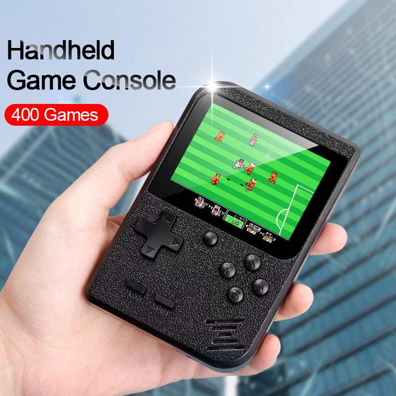 New Retro Video Game Console 8-Bit Built-in 400 Classic Games Handheld Game Mini Handheld Game Player Portable Game Console(China)