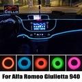 Car-Styling 9 Meter A Set EL Wire For Alfa Romeo Giulietta / Car Interior Romantic Atmosphere Lamp / Flexible Neon Cold Light