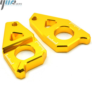 Image 4 - Motorcycle Accessories Chain Adjusters Tensioners Chain Adjuster Fits For YAMAHA FZ8 Tmax 530 TMAX 530 12 15 FZ1 YZF R1 CNC