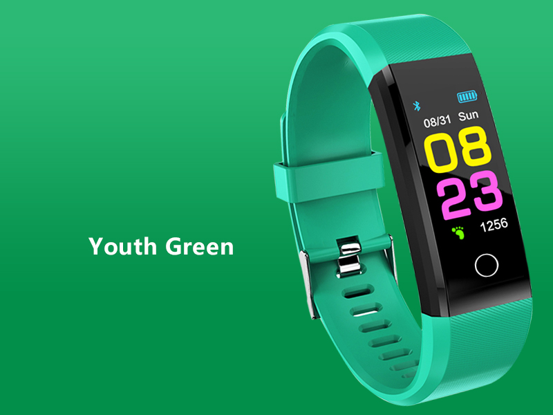 Smart watch man, woman. Heart rate Monitor blood pressure Fitness Tracker sports watch Smartwatch for ios Youth Green