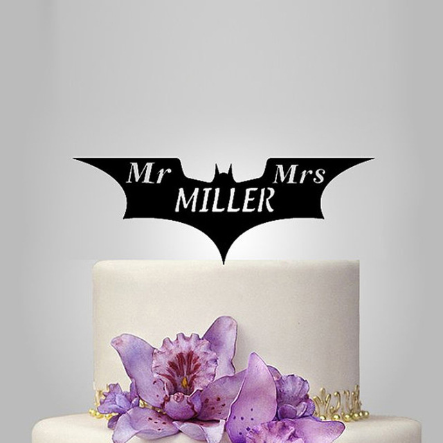 2017 Real Rushed Personalized Acrylic Batman Wedding Cake Topper ...