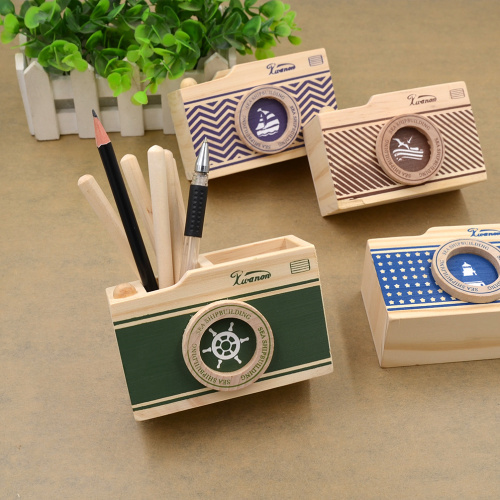 Excellent Cheap New Creative Kawaii Diy Pen Holder Camera Shape Cool Wood Pencil  Holder Desk Stationery Organizerin Pen With Cool Pen Holders With Cool Pen  ...