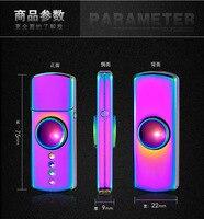 Fidget Gyro Elektrische Aansteker USB Oplaadbare Cool Light Up Hand Spinner met LED Vinger Figit Figet Spinner Rare
