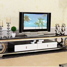 Tv-Stand Cabinet Tv-Table Mueble Tv Living-Room Home-Furniture Stainless-Steel Modern