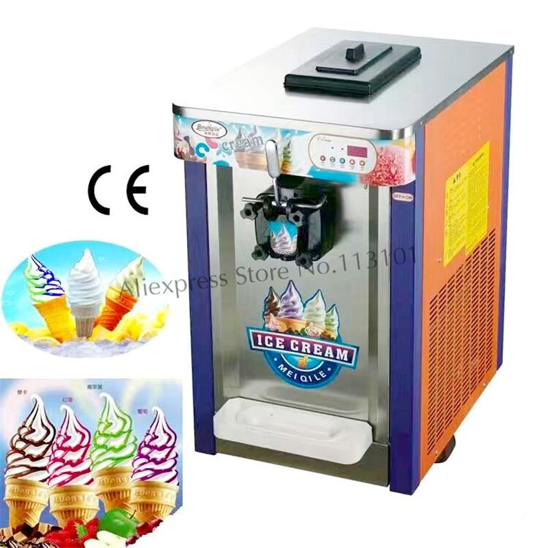 Machine à crème glacée molle de fabricant de crème glacée à tête unique capacité 16 ~ 18 litres/heure tout neuf avec le compteur