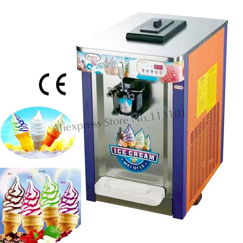 все цены на Single Head Ice Cream Maker Soft Ice Cream Machine Capacity 16~18 liters/hour Brand NEW with Counter онлайн