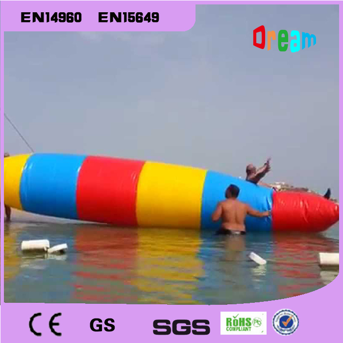 Free Shipping Popular 6*2M 0.9MM Inflatable Water Catapult Blob Inflatable Blob Jumping Water Blob Jump For Sale Water Pillow free shipping free pump inflatable water games water toys inflatable water seesaw inflatable water totter for sale