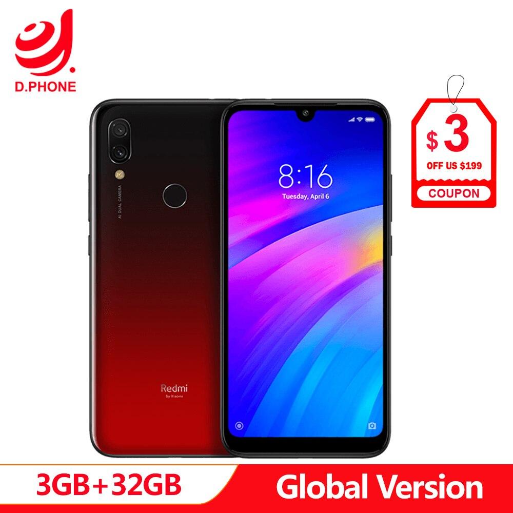 Global Versão Original Xiaomi Redmi 7 32 3 GB de RAM GB ROM Snapdragon 632 Núcleo octa 12MP 6.26