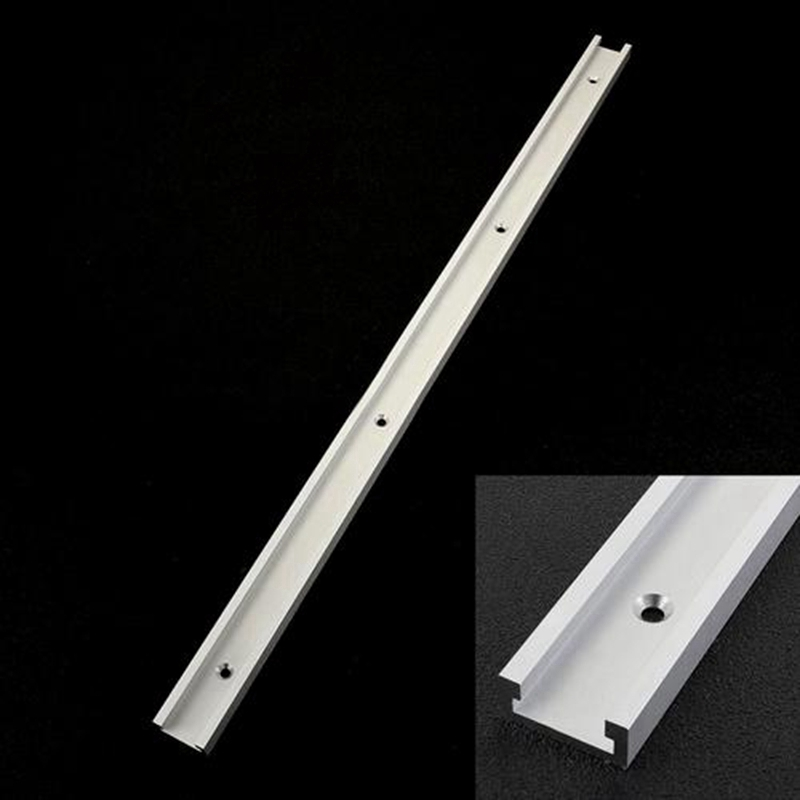 Aluminum T-track T-slot Miter Track 300mm/400mm/500mm/600mm/800mm T Screw Fixture Slot For Table Saw Woodworking Tool