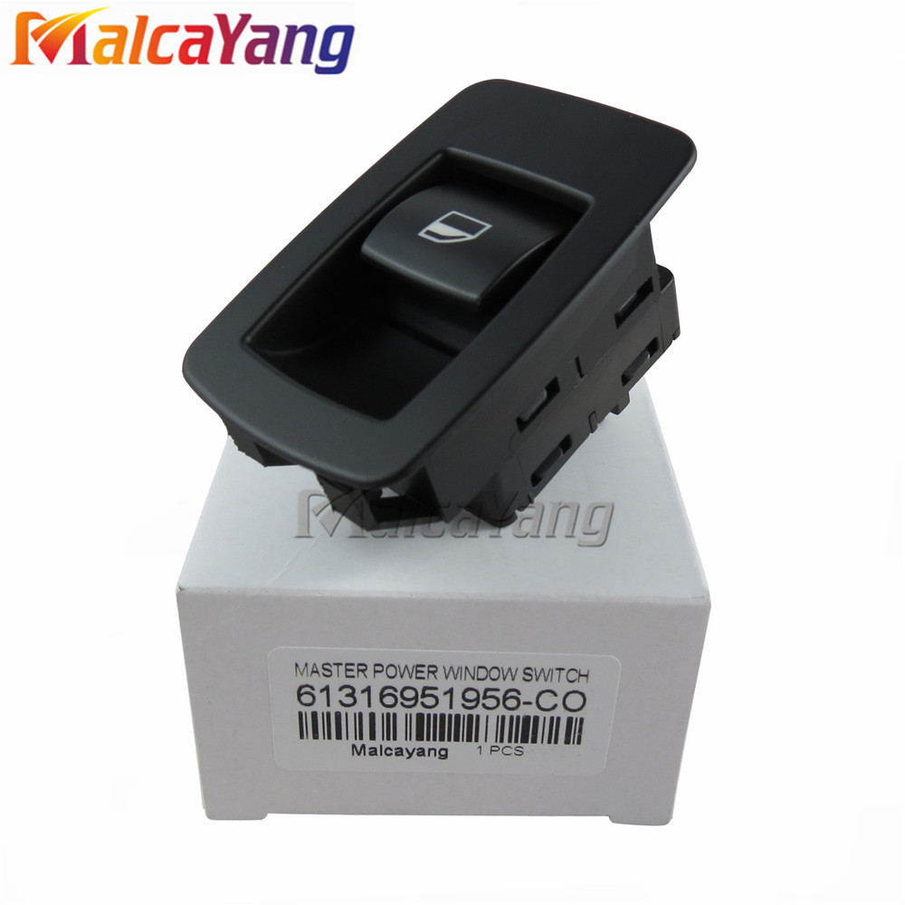 New Black Window Lifter Raiser Switch Button For BMW E60 520I 523I 525I 530I 61316951956 61319113931 61316940313
