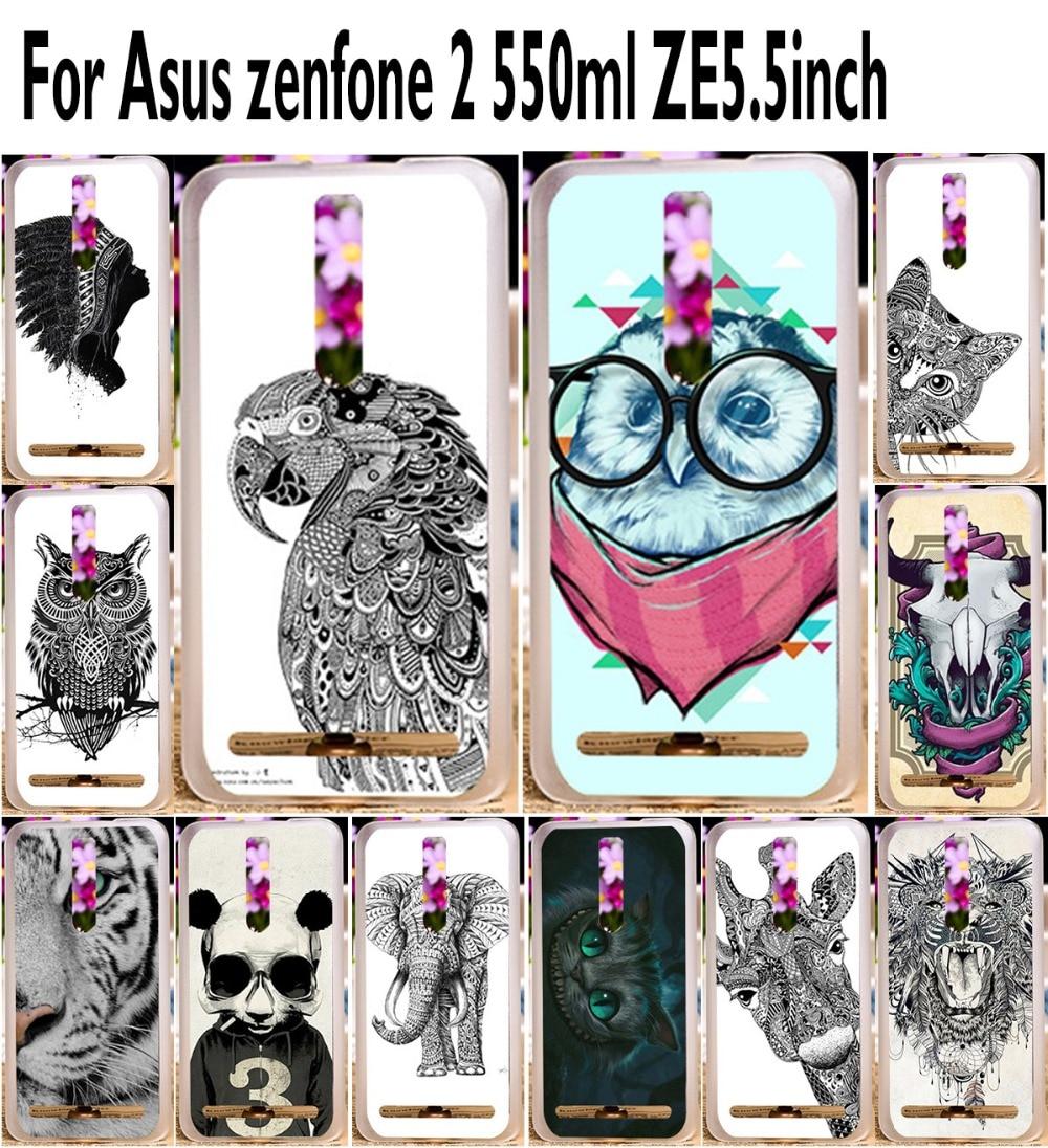 TAOYUNXI Soft TPU Hard Phone Cases For Asus Zenfone 2 Deluxe ZE550ML Z00AD ZE551ML Zenfone2 5.5 inch Cover Animal Back Skin