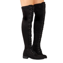 Women Boots Female Winter Shoes Thigh High Over-The-Knee Suede Bota Plus Size