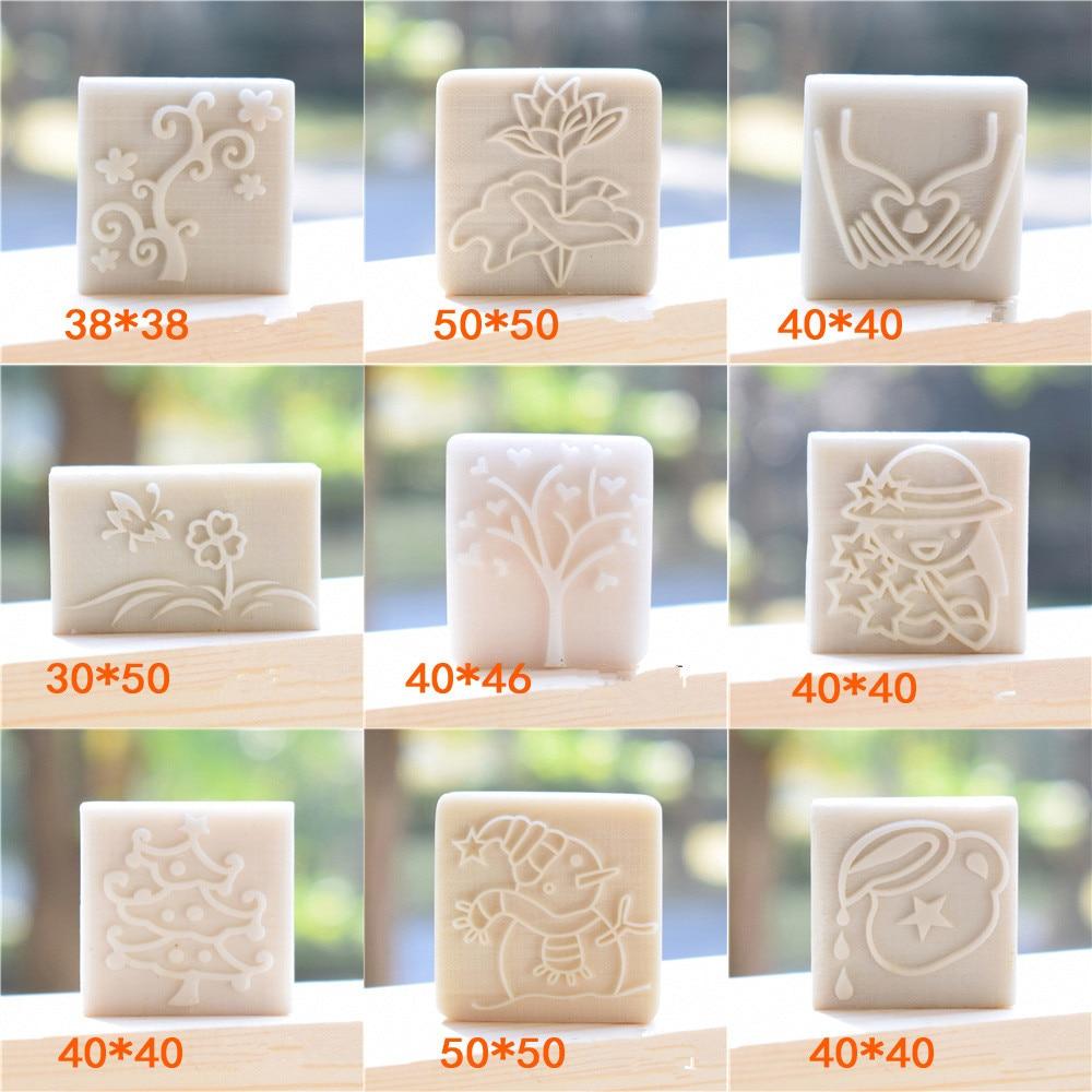 Diy handmade soap personality stamps white resin rose cartoon