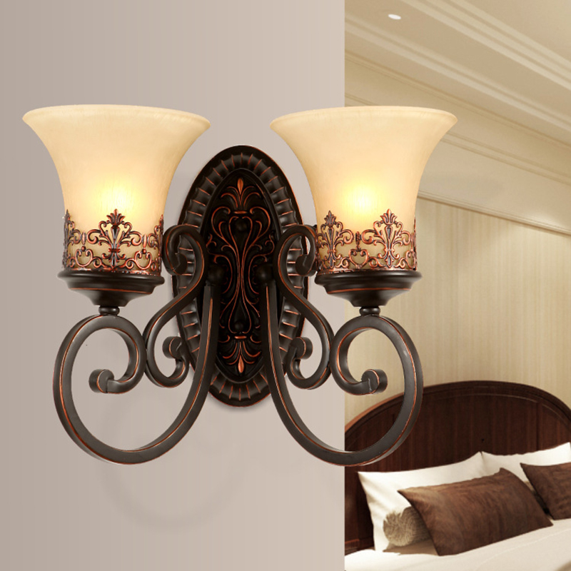 ФОТО Luxury European Style Wall Lamp Living Room Bedside Wall Lights