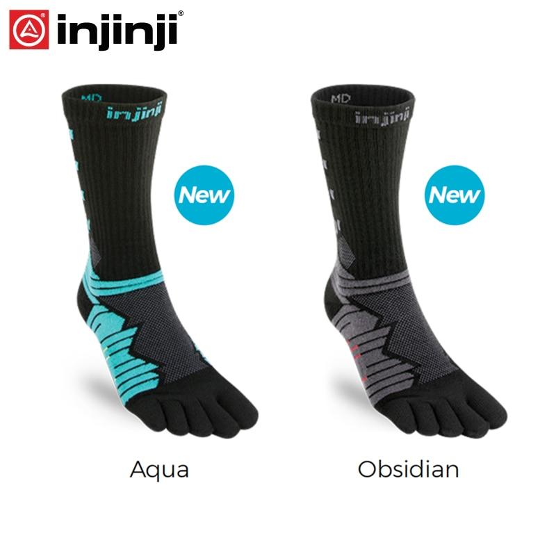 Injinji Toe Socks 2019 New Ultra Run Crew Coolmax Five-finger Running Socks Men