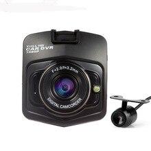 2016 Распродажа 2 объектива Видеорегистраторы для автомобилей Двойной Камера GT300 1080 P видео Регистраторы с заднего вида Камера S Ночное видение видеокамера Blackbox