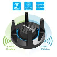 COMFAST 1900Mbps Gigabit High Gain USB3.0 Wireless WiFi Gaming Network Adapter Dual Band AC1900 2.4/5GHz Wi Fi for Windows Mac