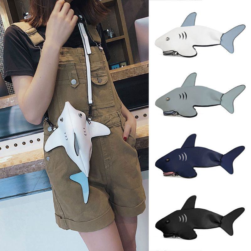 Clutch Purses Messenger-Bag Crossbody-Bags Shark Shoulder Animal-Design High-Quality
