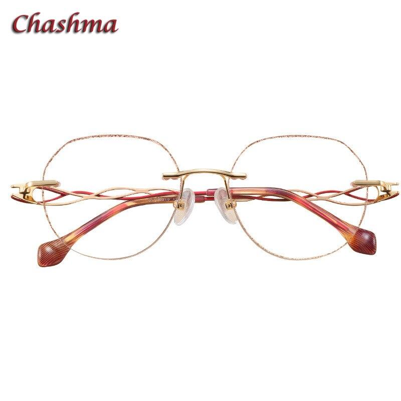 Rahmen Transparent Brillen Gläser Gradienten Glas Runde Frauen Linsen Licht Lenses Lenses Graduation Rezept pink Farbton Randlose Farbige Brille qwx16xOvX