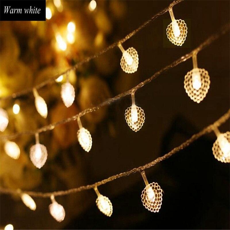 Lovely Star String Light Nightlights Super Cute Heart Luminaria 50Led String Lamps For Bedroom Party Holiday Decor Light