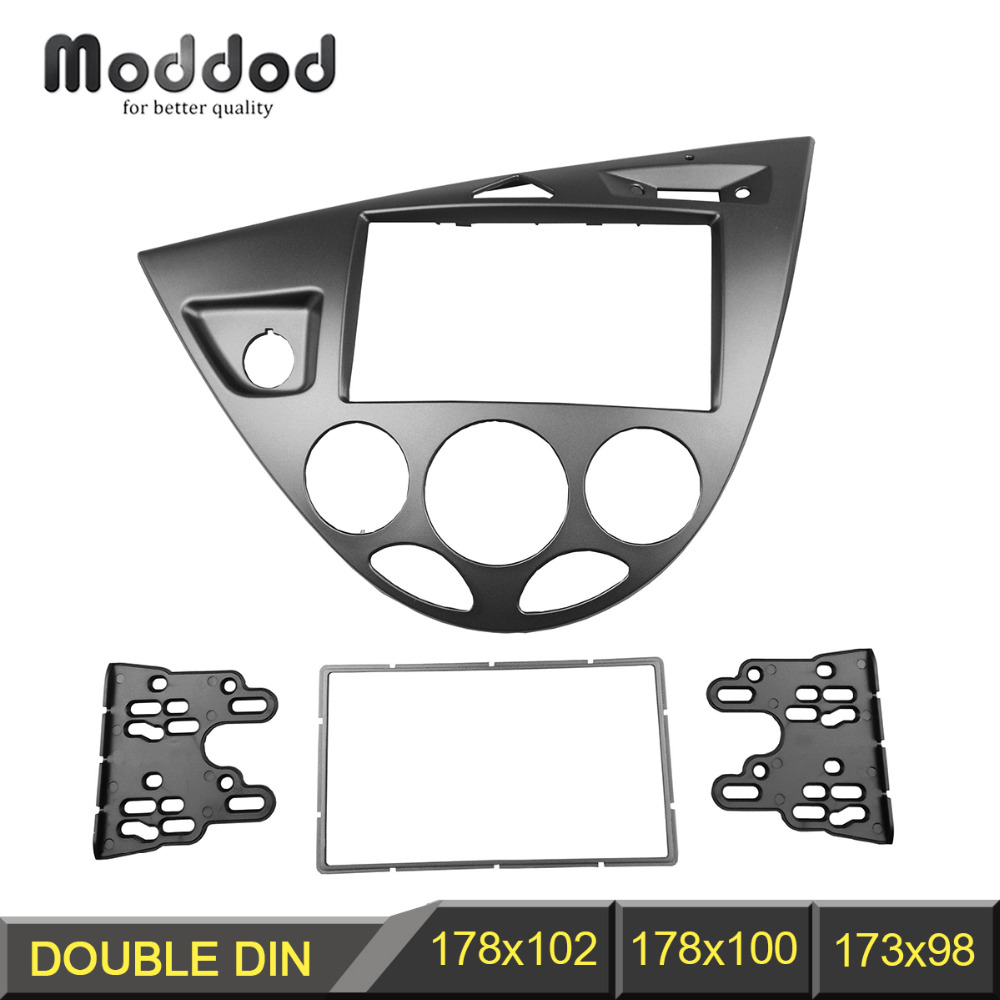 Double din stereo panel for ford ford fiesta focus fascia radio refitting dash mounting installation