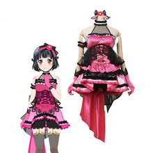 Hot Sale!!!Custom Made Cosplay Costume BanGDream!PoppinParty Bass player Cos Dress sweet and cute full sets